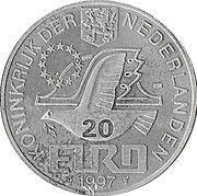 20 Euro - BEATRIX (P.C.Hooft -1581/1647-) -  avers