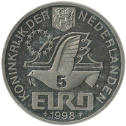 5 euros (Maarten Tromp) -  avers