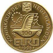 100 EURO - Beatrix (M.C.Escher -1898/1972-) -  avers