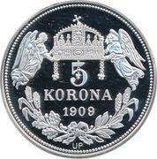 5 Korona (Karolus I) – revers