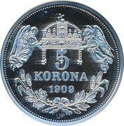 5 Korona (Ferdinandus III) – revers