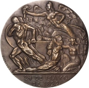 Medal - Centenary of the Battle of Pichincha – revers