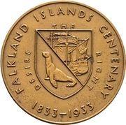 Medal - George V (Falkland Islands Centenary) – revers