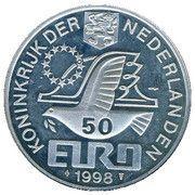 50 EURO - Beatrix (M.C.Escher -1898/1972-) -  avers