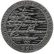 1 ECU (Barcelona Olympics) – revers