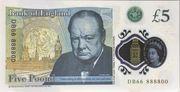 5 Livres - Movie Money (Winston Churchill) – revers