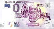 0 euro  (130 Jahre Schlossbauverein) – avers