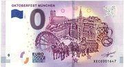 0 Euro Oktoberfest München – avers