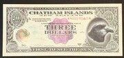 3 Dollars - Millennium First Note – avers