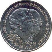 2½ ECU - Beatrix (Hommage Juliana-Bernhard) -  revers