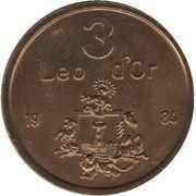3 Leo d'Or – avers