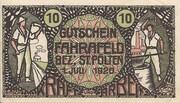 10 Heller (Fahrafeld) – avers