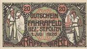 20 Heller (Fahrafeld) – avers
