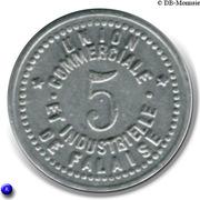 5 Centimes Union Commerciale et Industrielle - Falaise [14] – revers