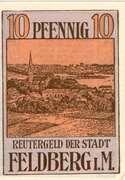 10 Pfennig (Feldberg i. M.) – revers