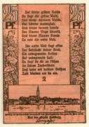 25 Pfennig (Feldberg i M.) – avers