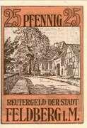 25 Pfennig (Feldberg i M.) – revers