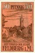 50 Pfennig (Feldberg i. M.) – revers