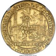 Lion heaumé d'or - Louis II de Mâle - Ghent Mint – avers