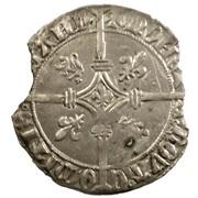"""Double gros """"Vierlander"""" de Flandre - Philippe III de Bourgogne dit """"le Bon"""" – revers"""