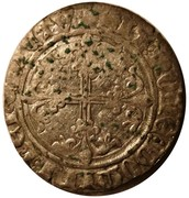 """Blanc à l'écu - Philippe III de Bourgogne dit """"le Bon"""" – revers"""