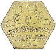 10 Øre (S. P. Petersens EFTF (Grandes lettres)) – avers