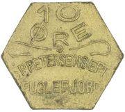 10 Øre (S. P. Petersens EFTF) ((EPTF au lieu de l'ETF)) – avers