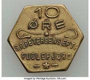 10 Øre (S. P. Petersens EFTF; Petites lettres) – avers