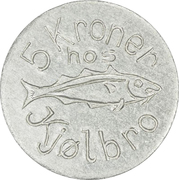 5 Kroner (J. F. Kjølbro) – avers