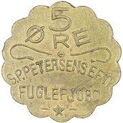 5 Øre (S. P. Petersens EFTF) (Grandes lettres) – avers