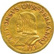 2 ducati - Alfonso I – avers