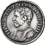 1 testone - Ercole II – avers