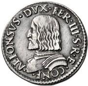 1 testone - Alfonso I – avers