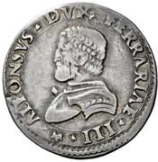 ½ lira - Alfonso I – avers