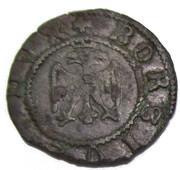 Quattrino, Borso d'Este (1471) – avers