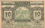 10 Heller (Ferschnitz) -  avers