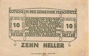 10 Heller (Ferschnitz) -  revers