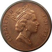 1 cent - Elizabeth II (3eme effigie) -  avers