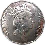 50 cents - Elizabeth II (3eme effigie) -  avers