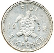 6 pence - George VI – revers