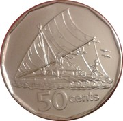 50 cents - Elizabeth II (3ème effigie) -  revers