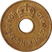 1 penny - George VI – avers