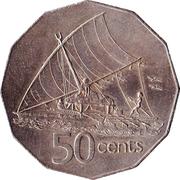 50 cents - Elizabeth II (2e effigie) -  revers