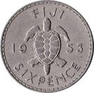 6 pence - Elizabeth II (1ere effigie) – revers