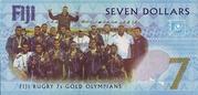 7 Dollars - Fijian Rugby 7s Team winning the Gold Medal in Rio de Janeiro, Brazil. – revers