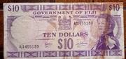 Fiji $10 1969 – avers