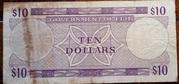 Fiji $10 1969 – revers