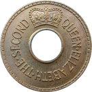 ½ penny - Elizabeth II – avers