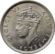 6 pence - George VI – avers