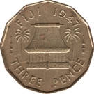 3 pence - George VI – revers